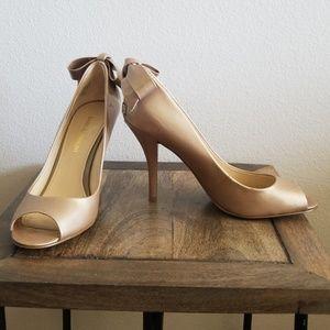 Patent Leather Peep Toe Heel